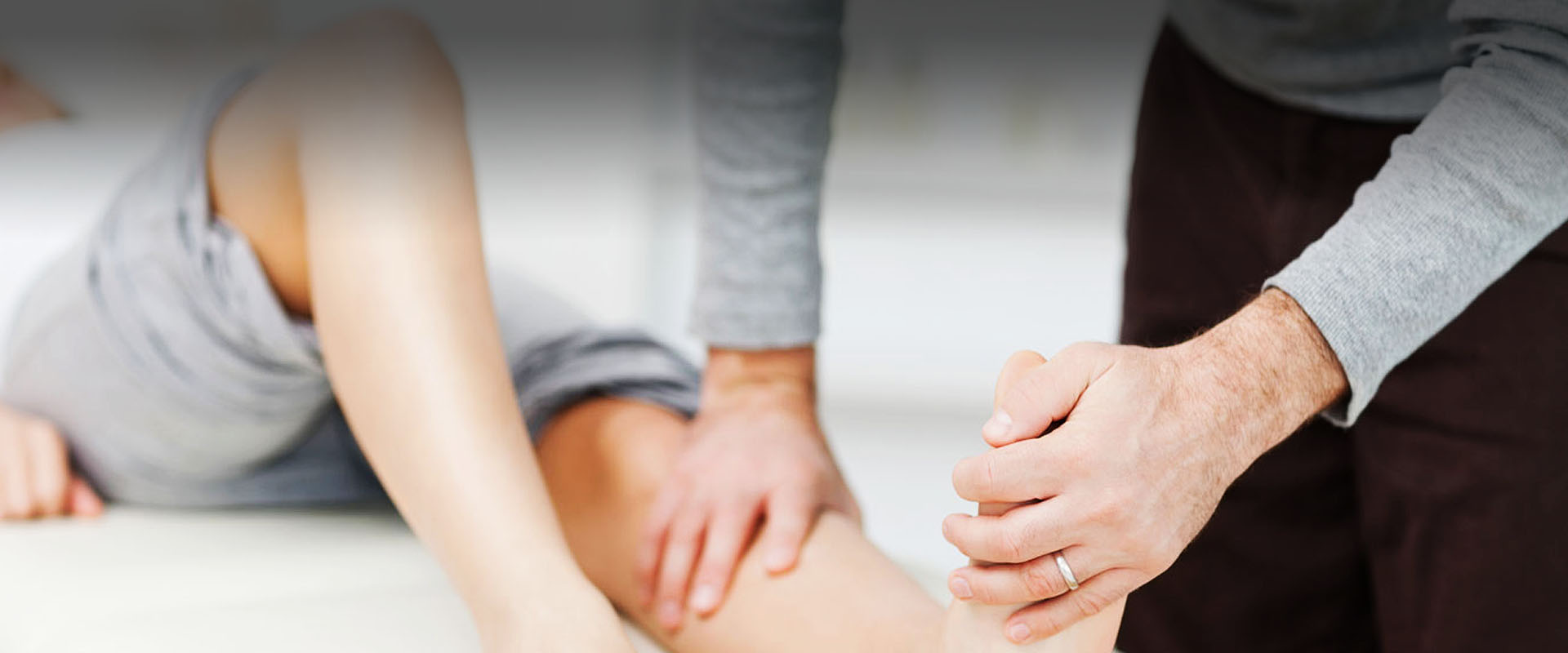 physiotherapy for woman's leg injury