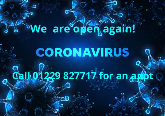 Coronavirus reopening banner